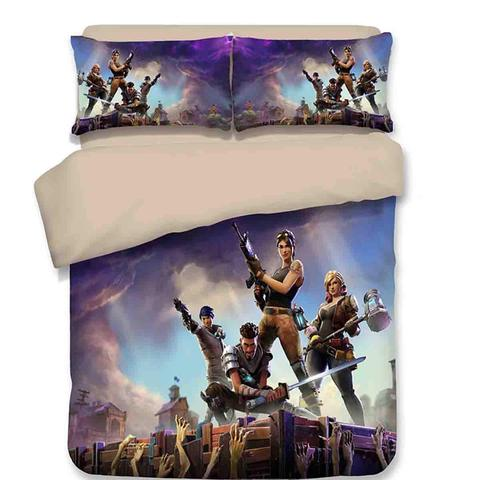 3D Fortnite Royale Duvet Cover & Pillowcase Set