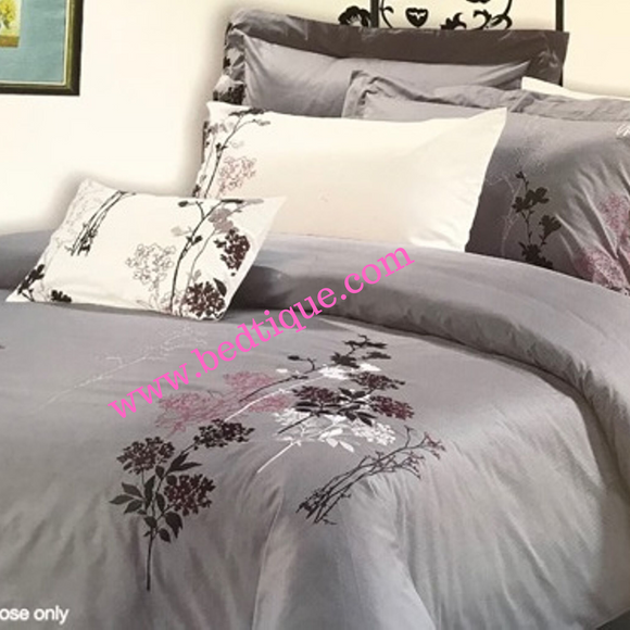 Posy Embroided Percale 50/50 200TC Duvet Cover Set