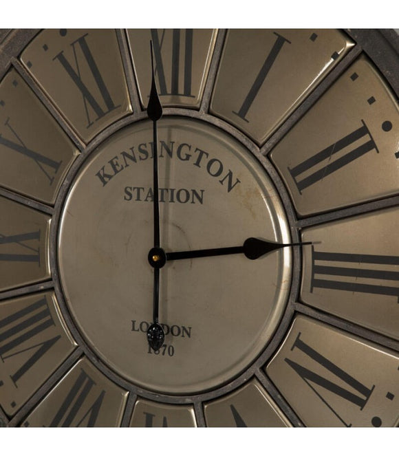 Kensington Station Vintage Iron Wall Clock