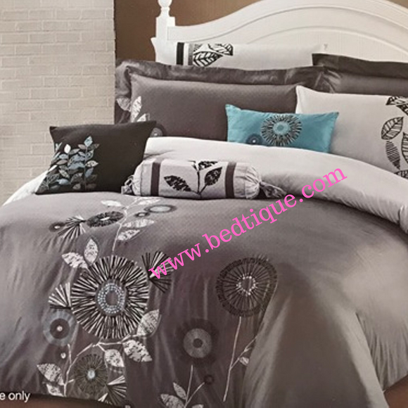 Milan Embroided Percale 50/50 200TC Duvet Cover Set