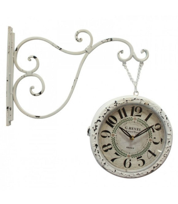 Palace Royal Double Sided Iron Wall Clock