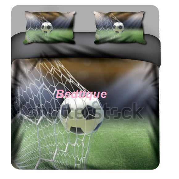 Soccer Ball net  Duvet & Pillowcase set  - Custom Print