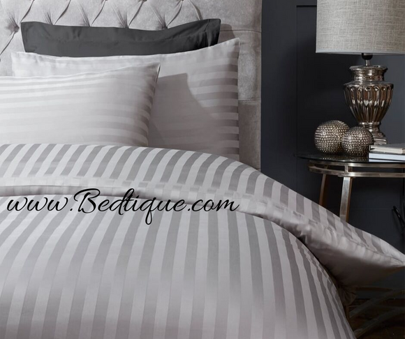 250 Thread Count Egyptian Cotton Duvet Cover Set - Silver