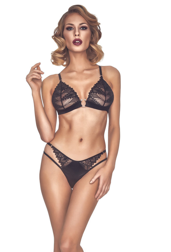 Koronis Black 2 Piece Lingerie Set