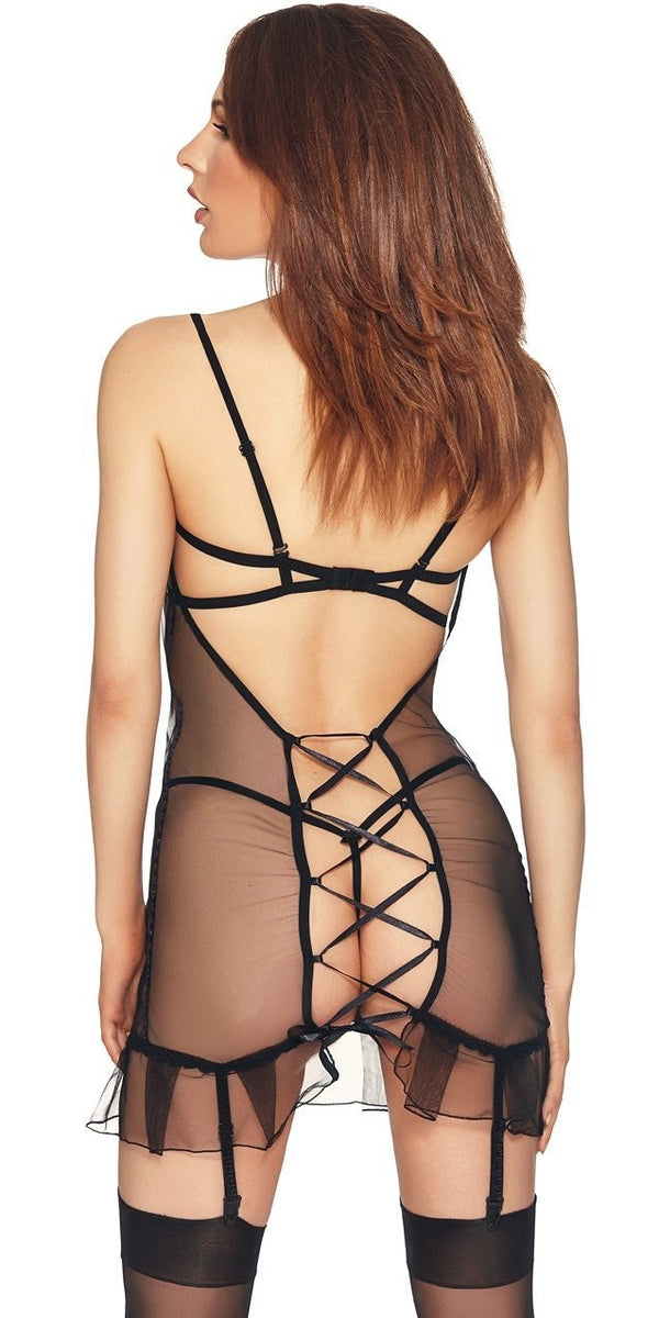 Palmina Sheer Black Chemise