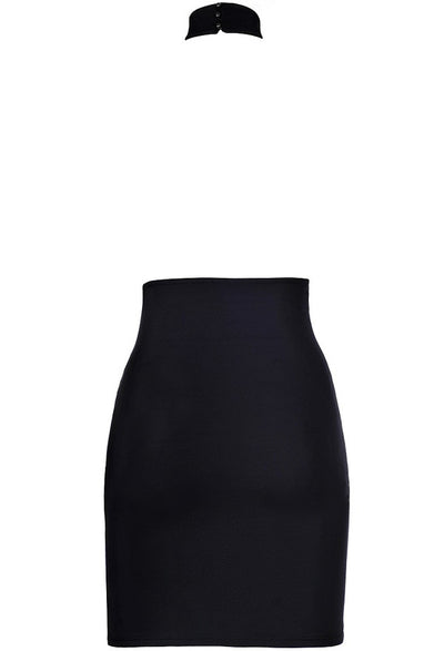 Axami Black Halterneck Mini Dress