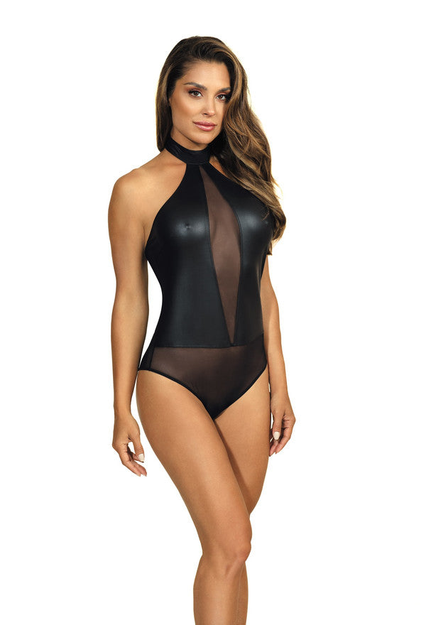 Axami Black Wet Look Bodysuit