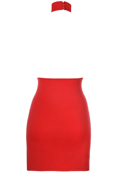 Axami Red Halterneck Mini Dress