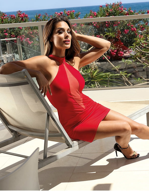 Red Hot Halterneck Mini Dress