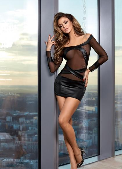 Sky Is The Limit Black Mini Dress