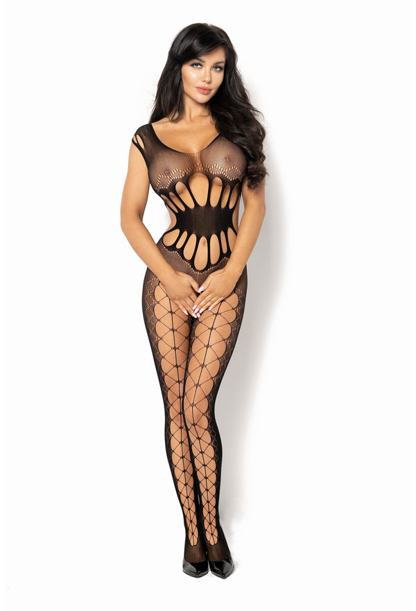 Beauty Night Etain Black Crotchless Bodystocking