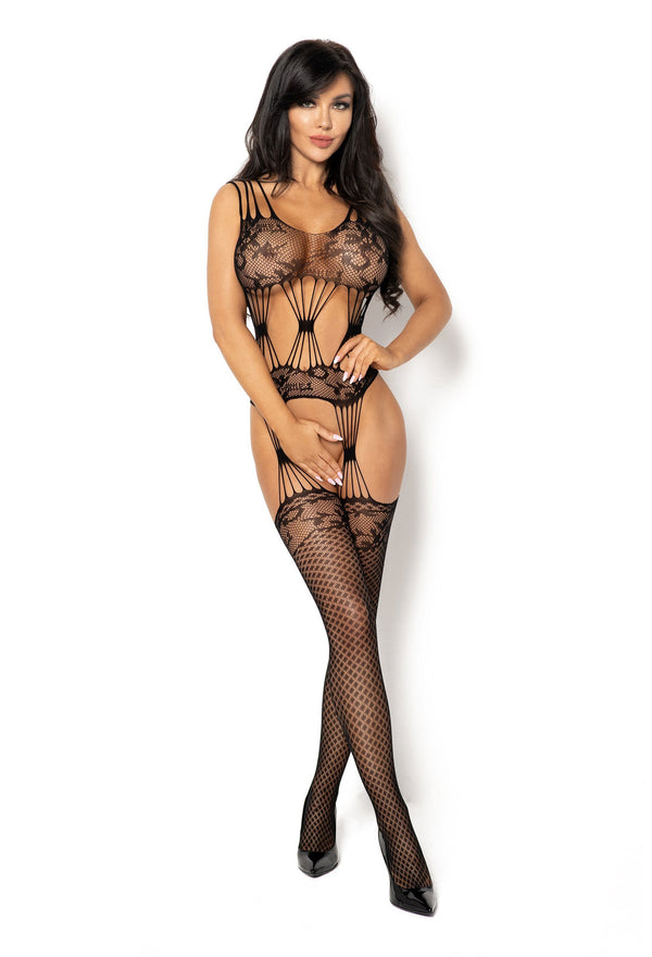Beauty Night Maribel Crotchless Black Bodystocking