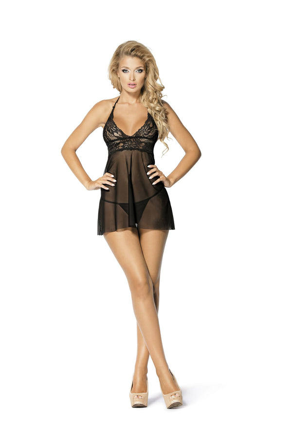 Black Cherry Sheer Chemise