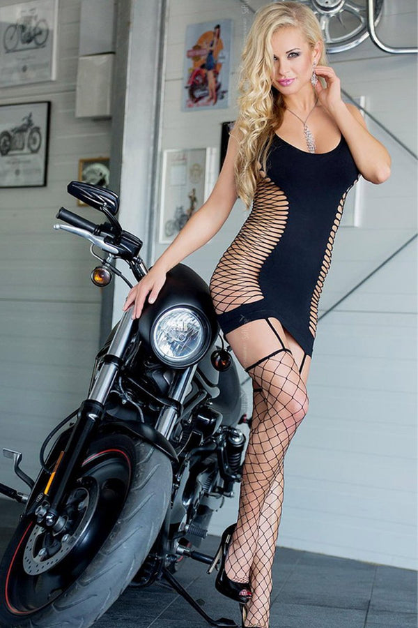 Black Bodystocking Chemise Softline