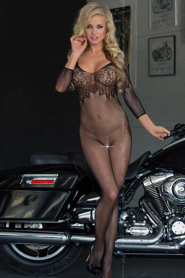 Fishnet Black Bodystocking Softline