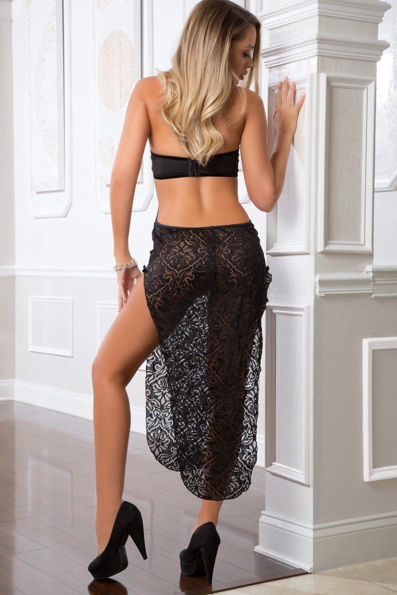 G World Black Lace Gown