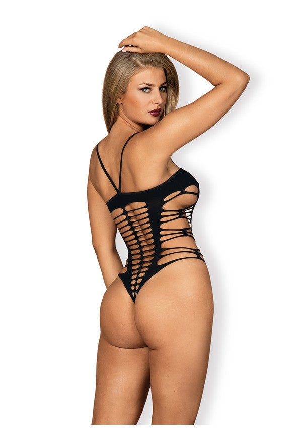 Obsessive Lingerie Strappy Black Teddy
