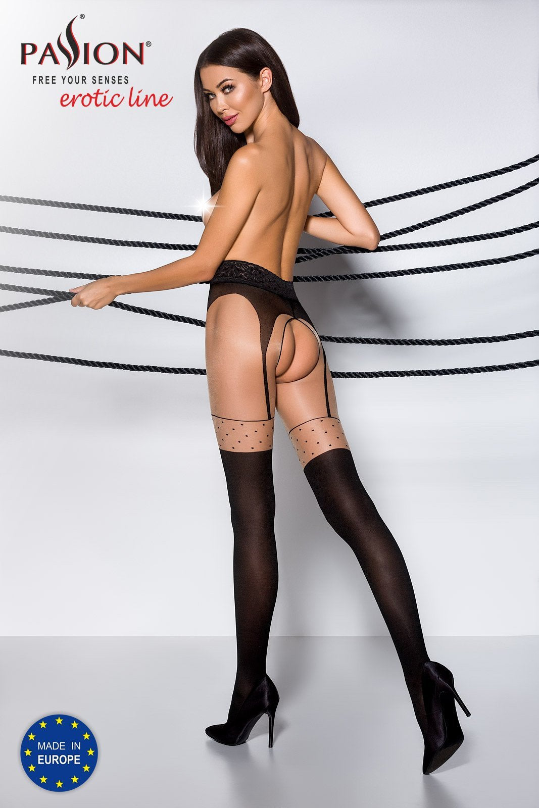 Passion TI003 Faux Suspender Tights