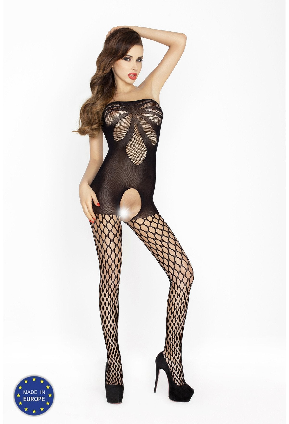Strapless Crotchless Bodystocking BS021