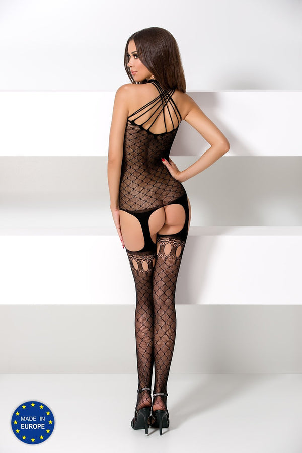 BS056 Black Suspender Bodystocking