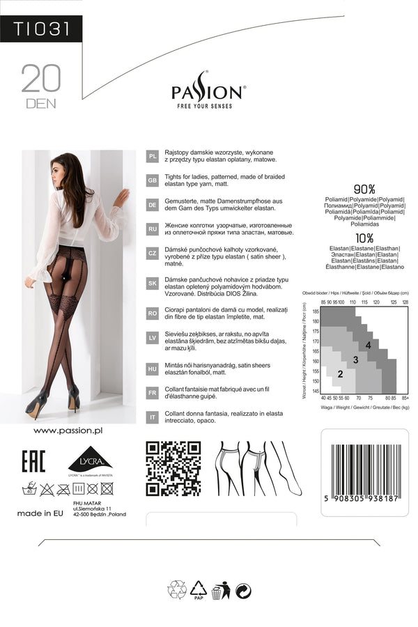 Seamed Black Tights