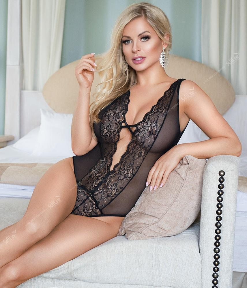 Sheer Black Bodysuit Softline
