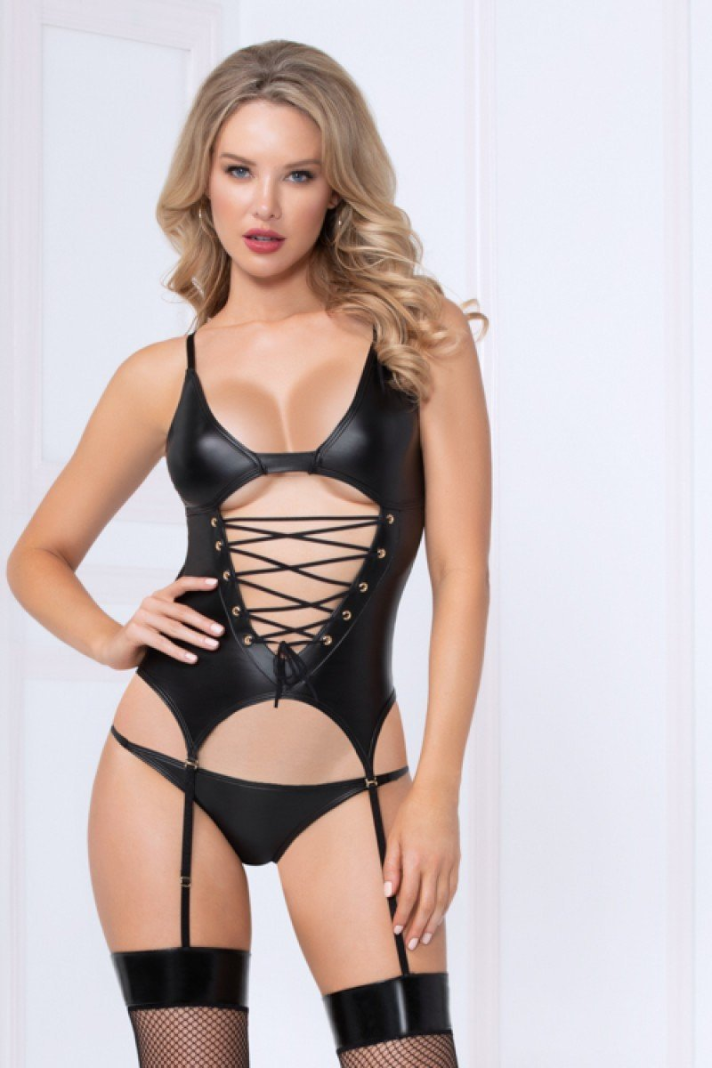 Seven Til Midnight Wet 'n Wild Bustier Set