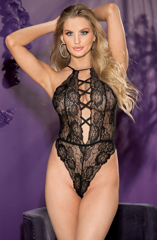Seductive Black Lace Teddy
