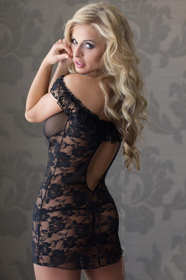 Softline Sheer Black Chemise