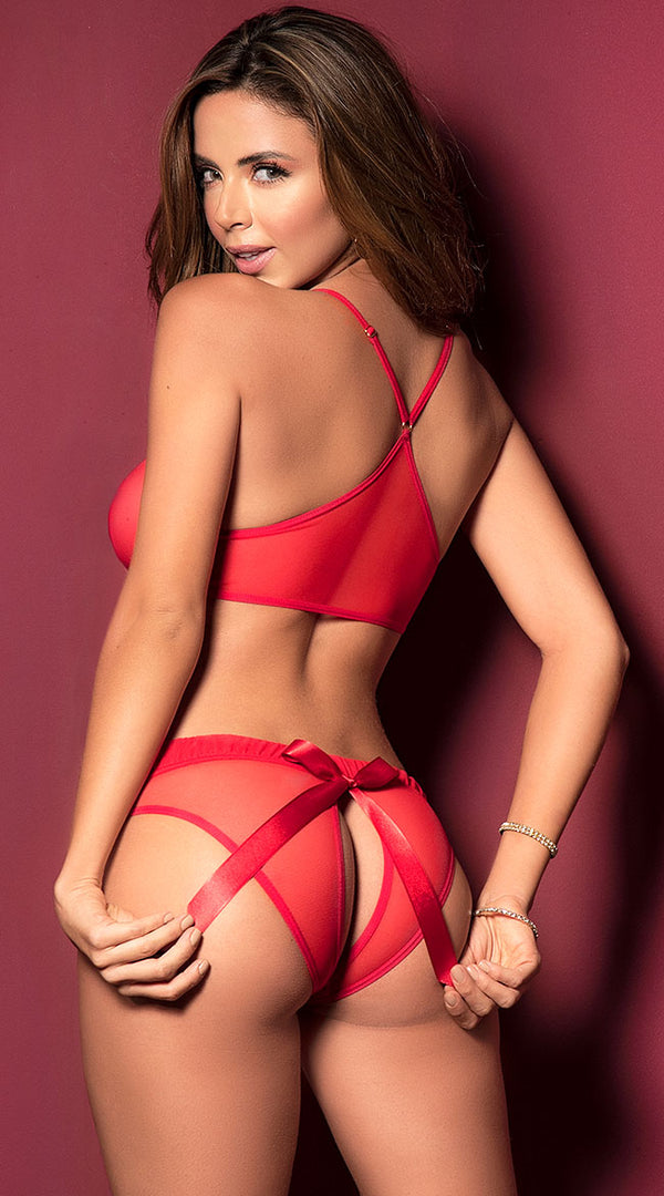 Two Piece Red Lingerie Set