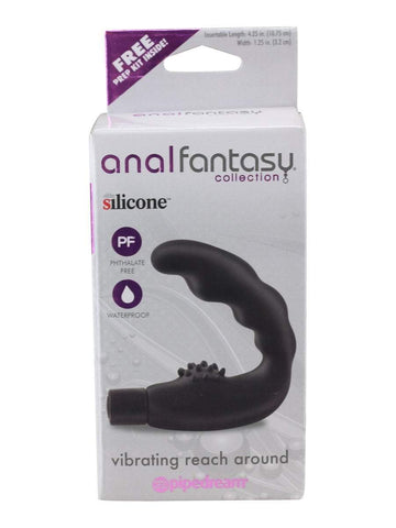 Anal Fantasy Anal Vibrator Black Anal Fantasy Vibrating Reach Around