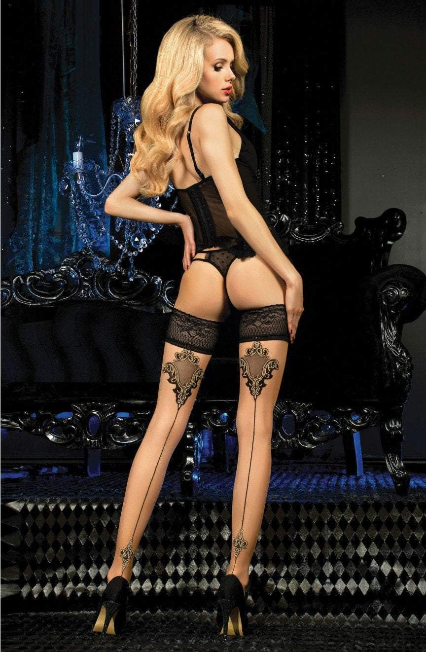 Ballerina Ballerina Stocking Hold Up Stocking Tights S/M Ballerina 453 Hold Ups