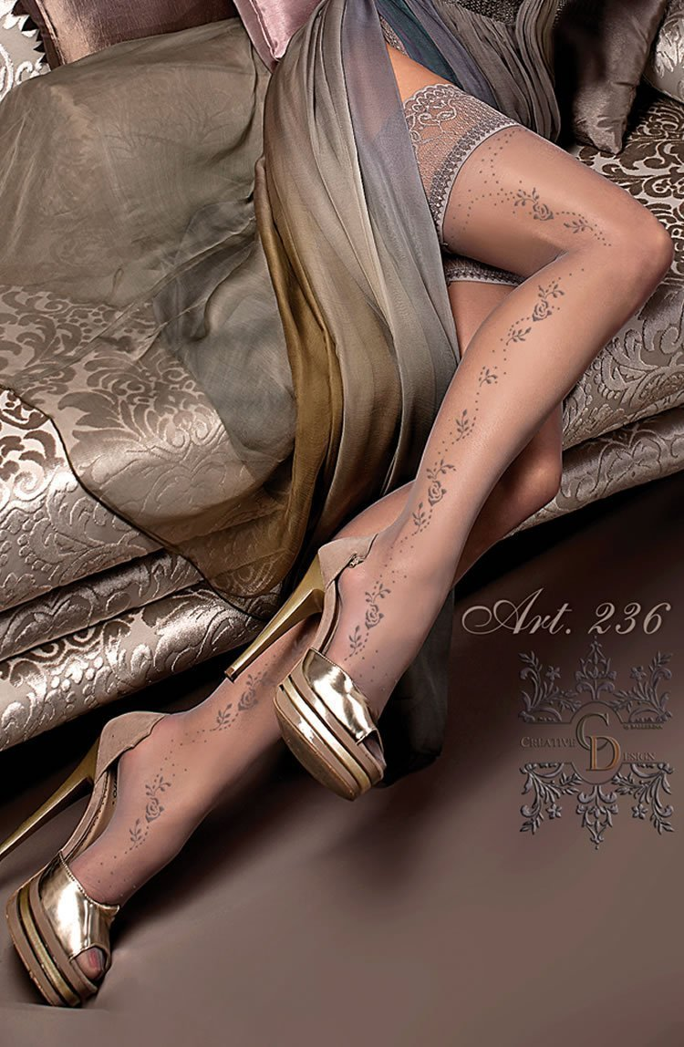 Ballerina Hold Ups UK S/M / Grey Ballerina 236 Hold Ups