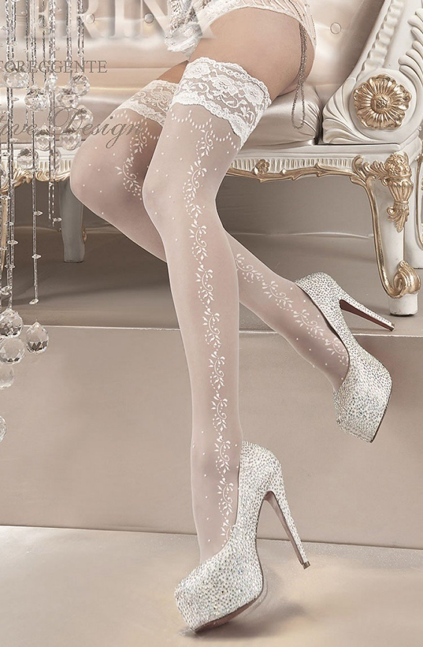 Ballerina Hold Ups UK S/M / White Ballerina 119 White Hold Ups
