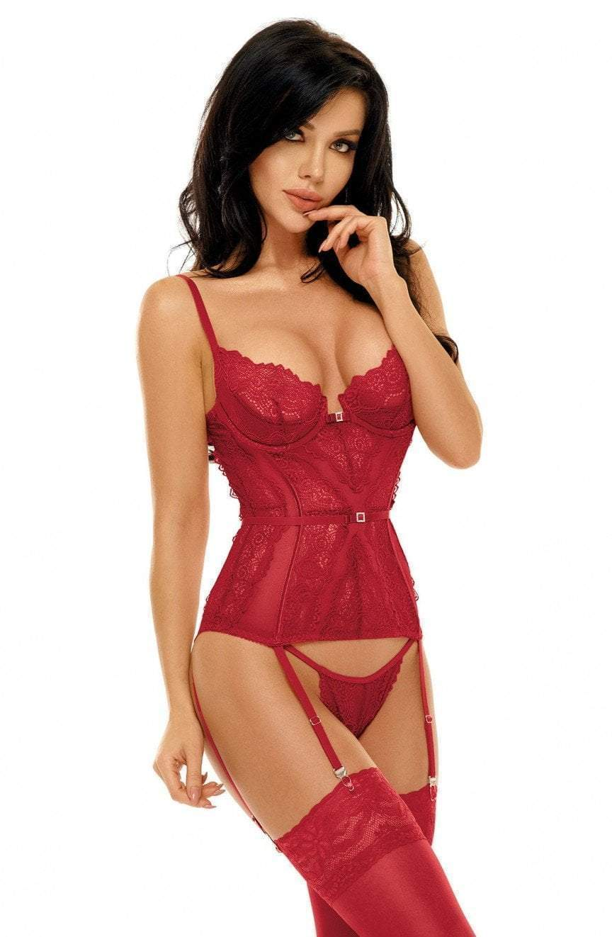 Beauty Night Ravenna Corset Cherry Red - FY Intimates