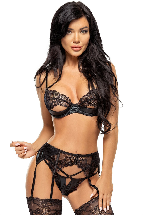 Beauty Night Marilyn Wet Look Lingerie Set