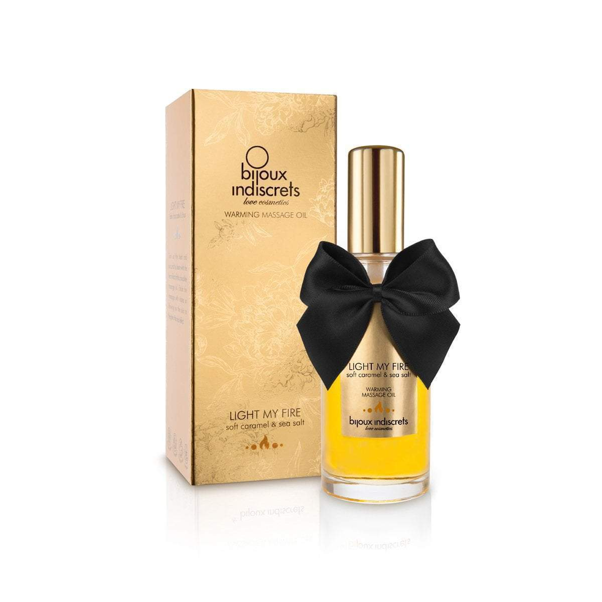 Bijoux Indescrets Massage Oil Light My Fire - Soft Caramel Warming Oil
