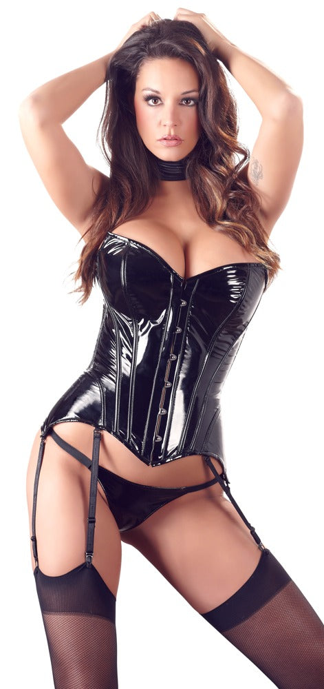 black level front fastening corset
