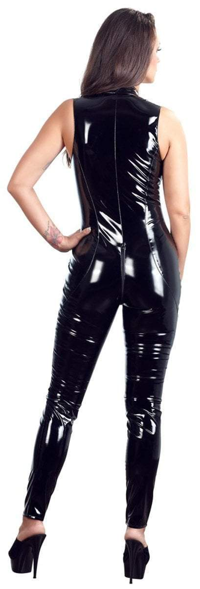 Black Level Womens PVC Clothing Black Vinyl Jumpsuit