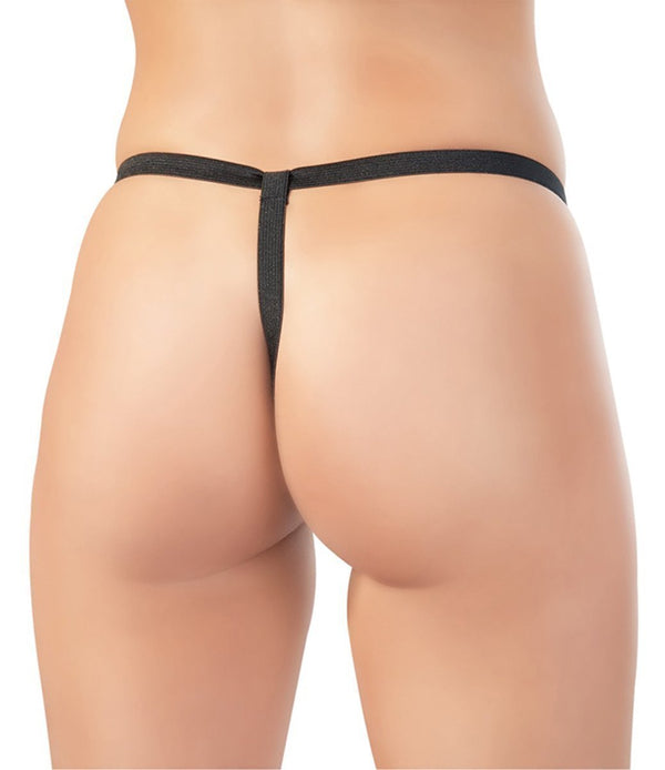 Black Level Womens PVC Clothing Vinyl G String