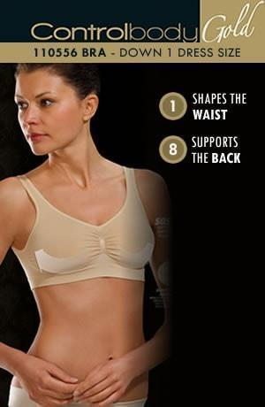 control body Bra Control Body White Bra With Wide Straps - Medium Support