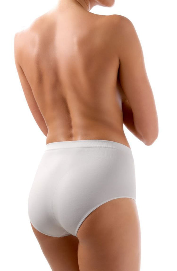 Control Body White Shaping Brief - Medium Support - Divas Closet