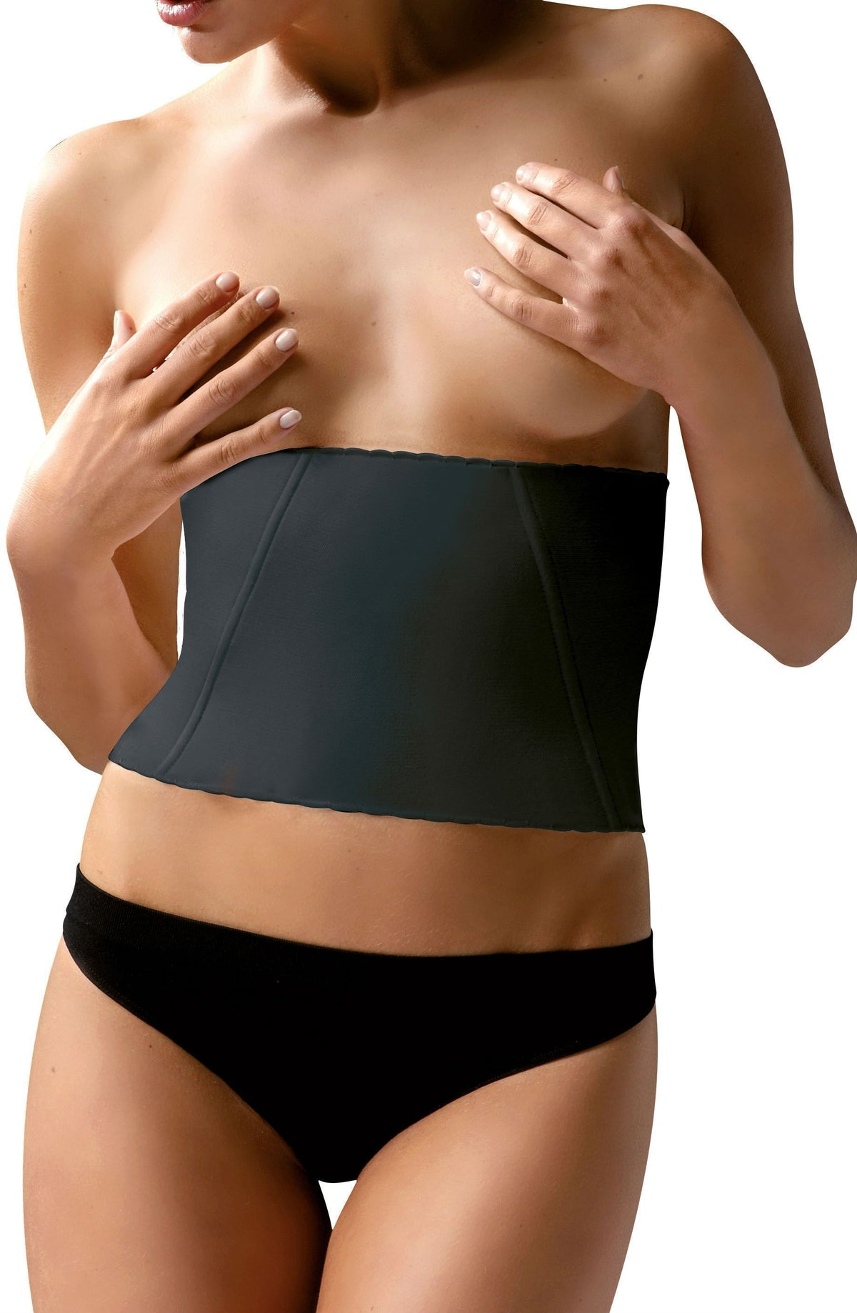 control body Control Body Corset UK 10-12 / Black Control Body Black Boned Corset - Firm Support