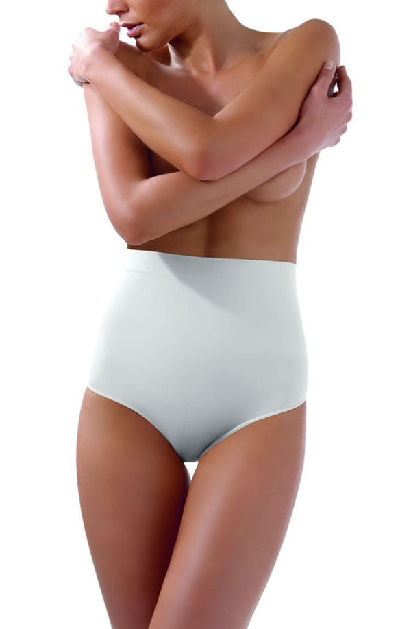 Control Body White High Waist Brief - Firm Support - Divas Closet