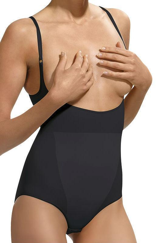 control body shape wear UK 10-12 / Black Control Body Black Open Bust Body - Firm Support
