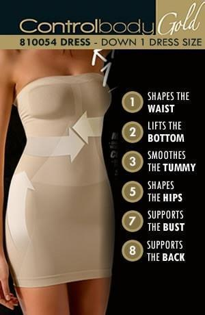 Control Body Shaping Dress - Medium Support - Divas Closet