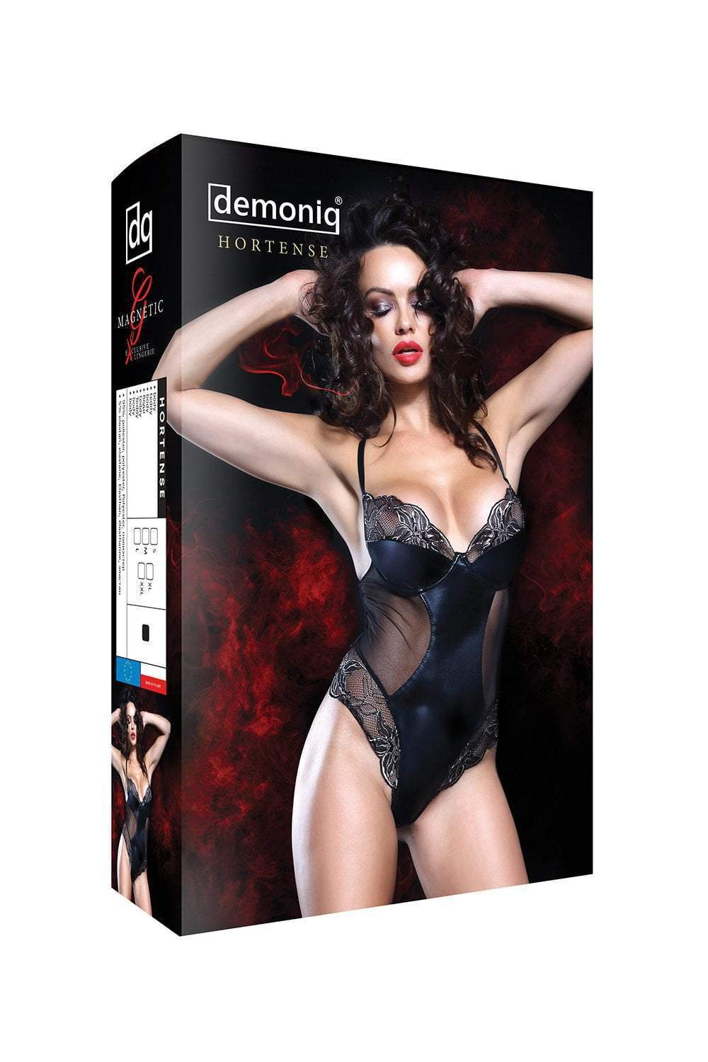 demoniq Demoniq Bodysuit Hortense Wet Look Bodysuit