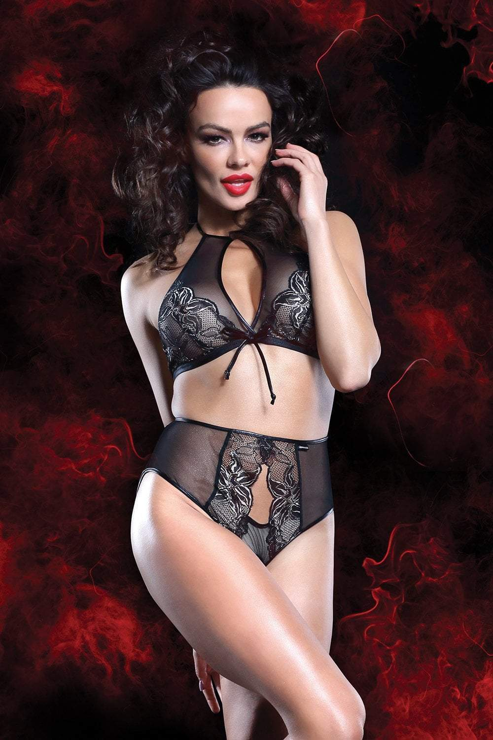 demoniq Demoniq Lingerie Set UK 8 / Black Mathilde Lingerie Set