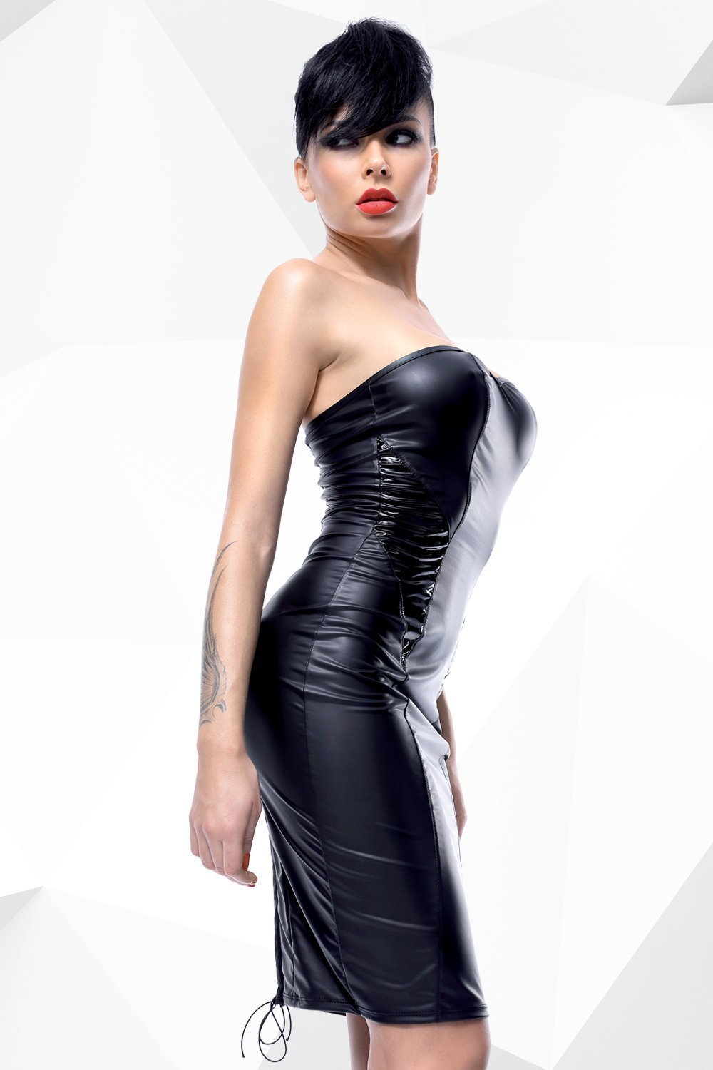 demoniq Dress UK 8 / Black Ellen by Demoniq Hard Candy Collection