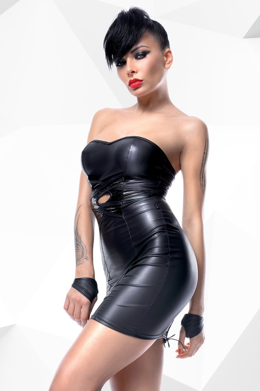 demoniq Dress UK 8 / Black Heidi by Demoniq Hard Candy Collection